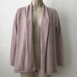 Zara Knit draped open front cardigan sweater C20